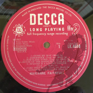 Marianne Faithfull - Come My Way - Decca LK.4688