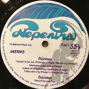 Dulcimer - And I Turned As I Had Turned As A Boy...