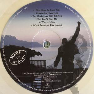Queen - Made In Heaven label