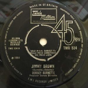 TMG-534 Dorsey Burnette - Jimmy Brown UK Motown